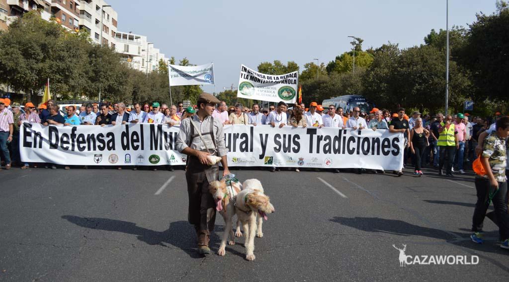 Los rehaleros también han estado presentes en la manifestación del Mundo Rural en Córdoba.