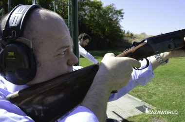 Probando los productos para la protección auditiva de los cazadores de 3M Peltor / J.C.Calvo