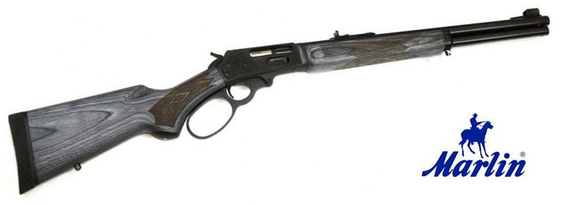 Rifle de palanca Marlin 1895 con madera laminada gris.