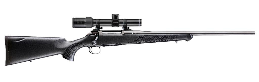 Rifle de cerrojo Sauer S100 y visor Minox ZE 5i 1-5x24.