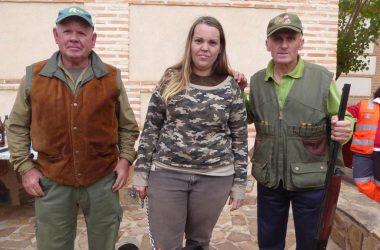 De izquierda a derecha los campeones de veteranos, damas y senior del Campeonato de Caza de CLM.