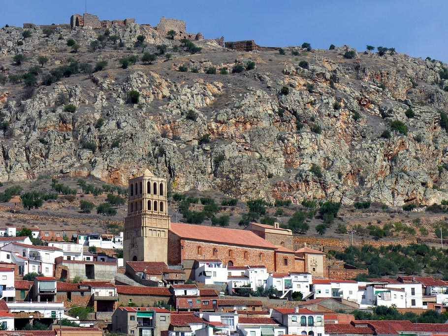 Vista del municipio de Hornachos (Badajoz)