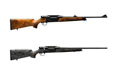 Dos acabados del rifle Strasser RS14 Evolution: standard y thar.