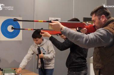 El tiro con carabina fue una de las actividades que se pudieron realizar en Cinegética.