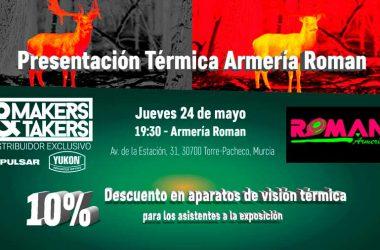 Jornada de presentación de visión térmica organizada por Makers & Takers en colaboración con Armería Román.