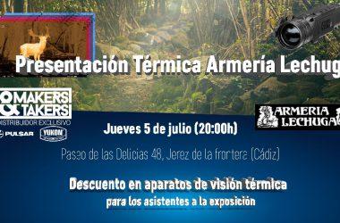 Makers & Takers realizará una presentación de dispositivos de visión térmica en la Armería Lechuga, de Cádiz.