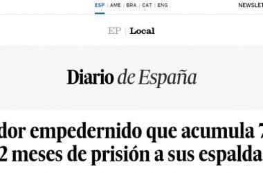El País llama cazador a un hombre condenado por furtivismo.