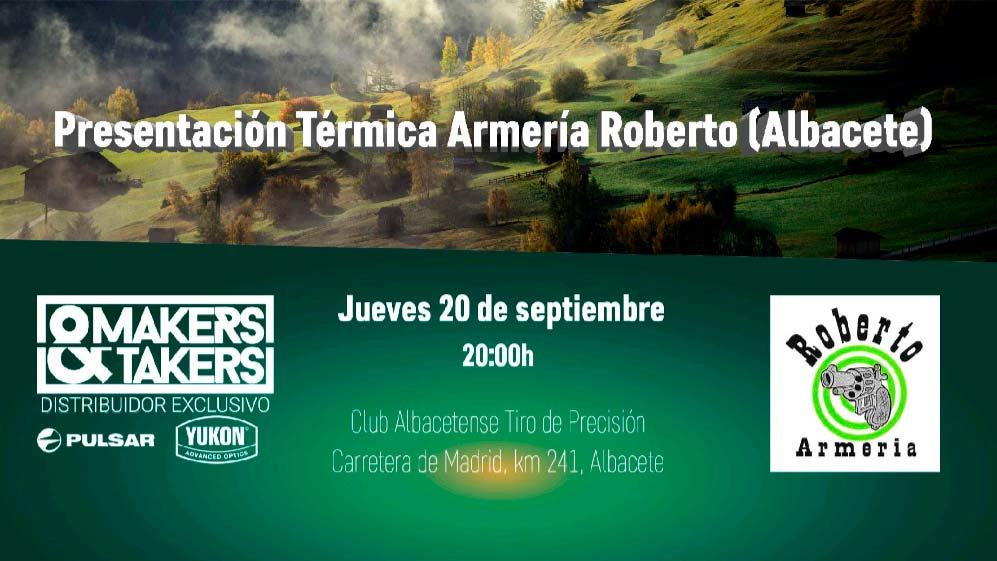 Presentación de artículos de visión térmica de Makers&Takers en Albacete