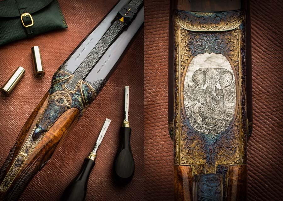 Rifle express Westley Richards del calibre 500