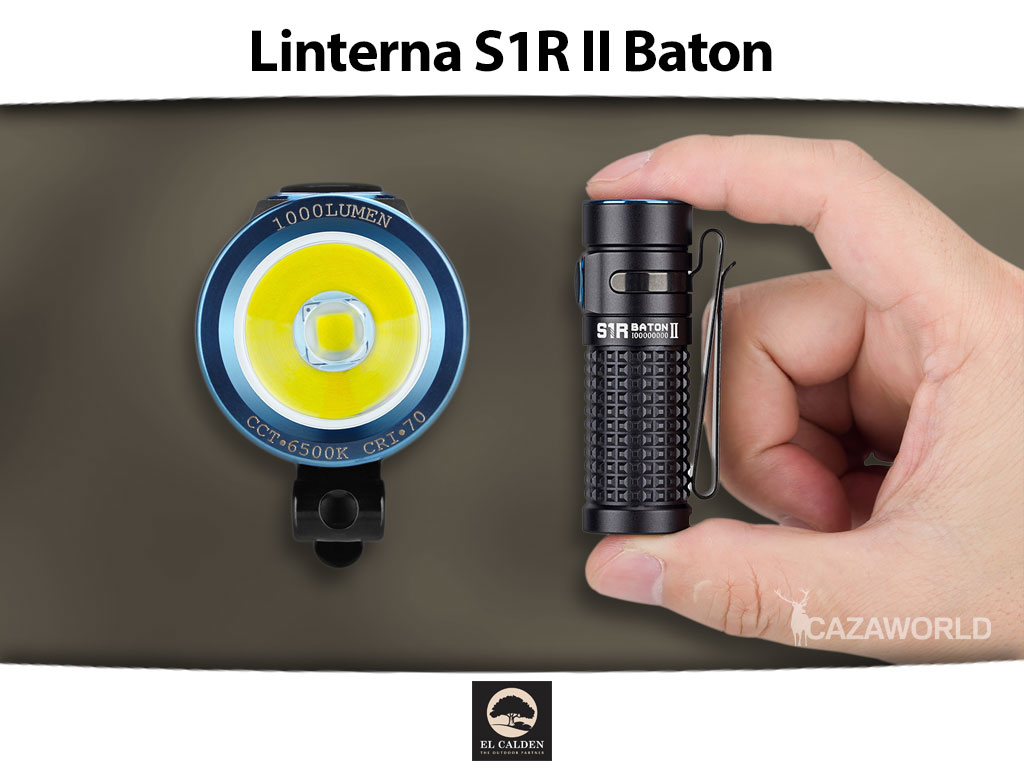 Linterna Olight S1R II Baton, compacta y ligera