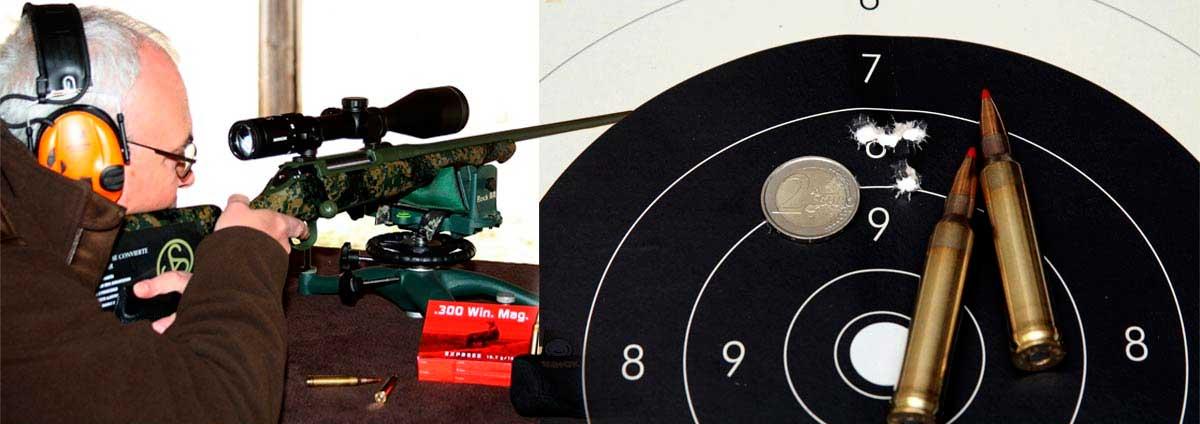 Agrupación tiros rifle Sauer S100