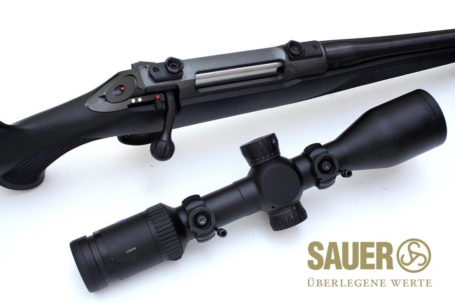 Visor y rifle Sauer S100 con monturas HexaLock