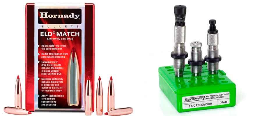 Proyectil y accesorios para recargar balas