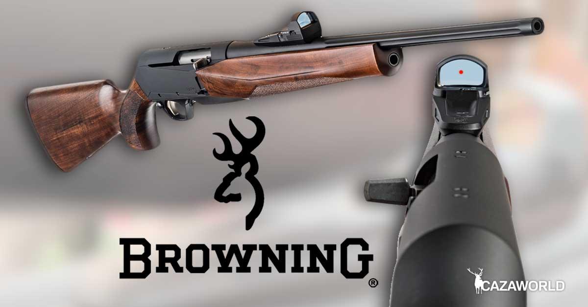 Sistema Reflex de Browning presentado en IWA 2019. Nos permite montar dos visores al mismo tiempo sobre un rifle.
