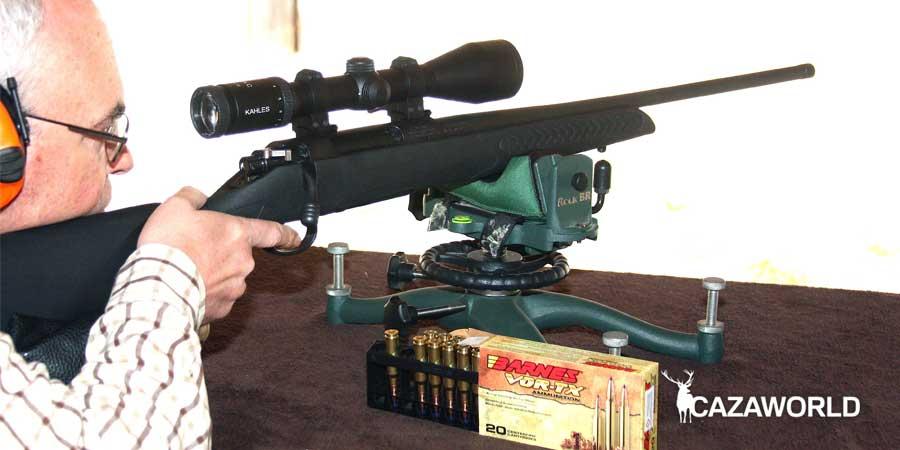 Probando el rifle Compass con un visor Kahles