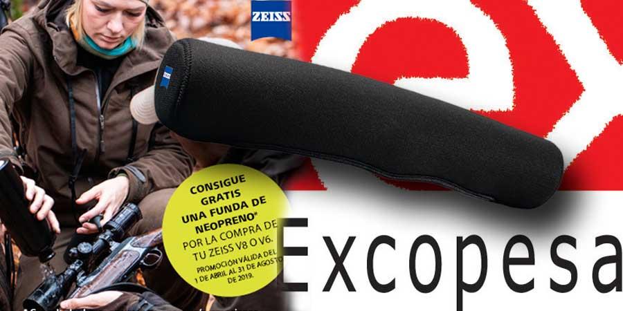 Funda de Neopreno Zeiss que Excopesa regalará a los compradores de un Zeiss Victory V8 o Conquest V6.