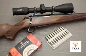 Rifle Tikka con visor Steiner
