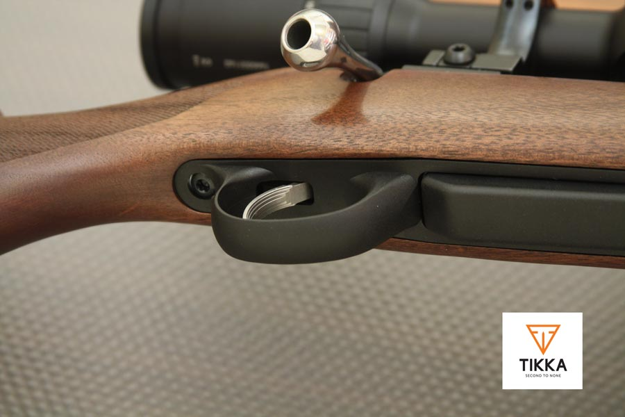 Gatillo y guardamonte en rifle Tikka