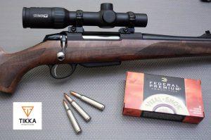 Rifle Tikka con visor Steiner y balas Federal