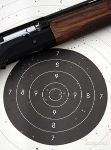 Blanco de tiro para hacer plomeos de escopeta