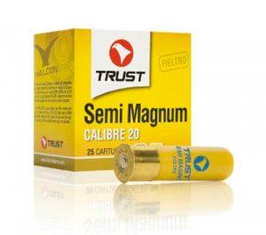 Cartucho con carga semi magnum