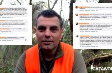 Insultos hacia Álvaro Fernández por publicar un vídeo expresando qué es la caza.