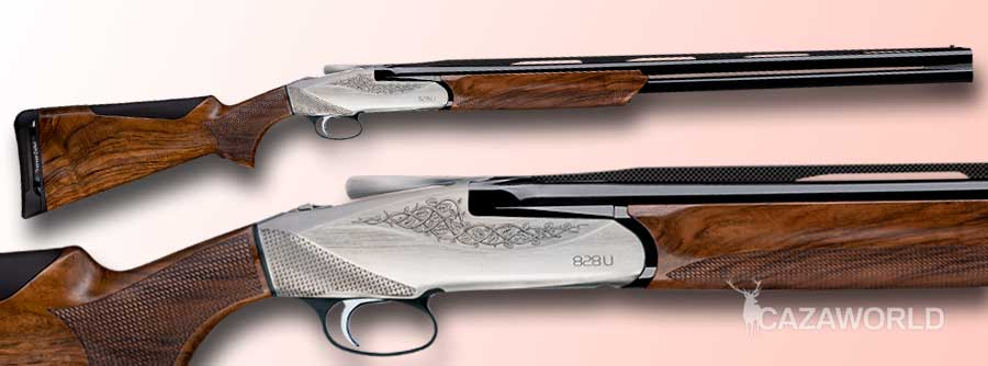 Escopeta superpuesta Benelli 828 U Silver en calibre 20