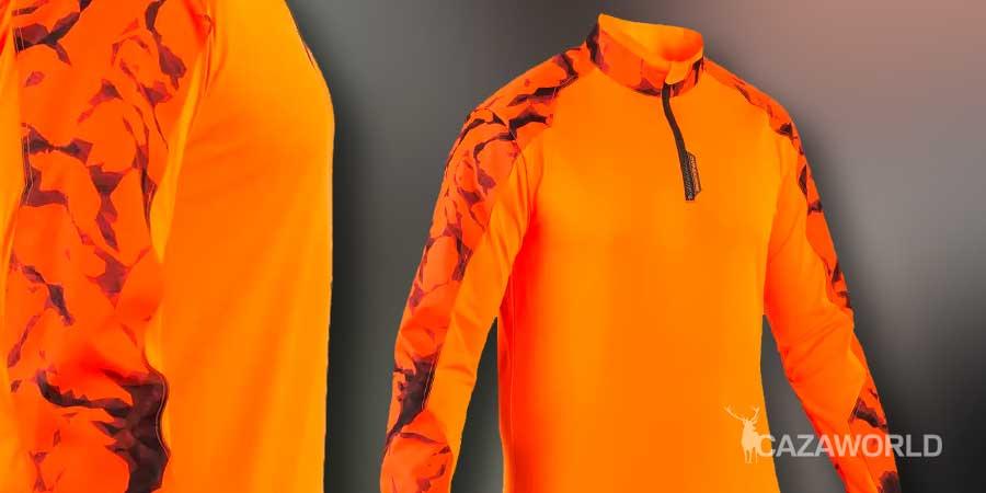 Camiseta de caza Solognac Supertrack naranja fluorescente