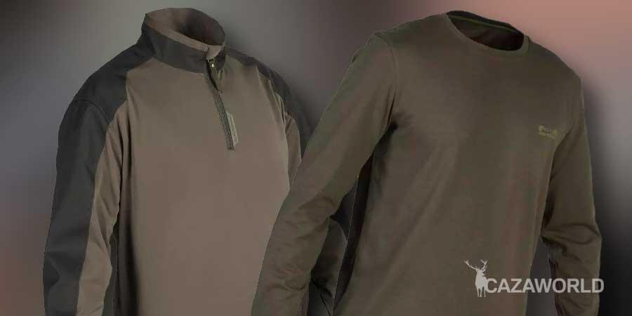 Camisetas de caza Solognac SG100 y SGTS 100 manga larga