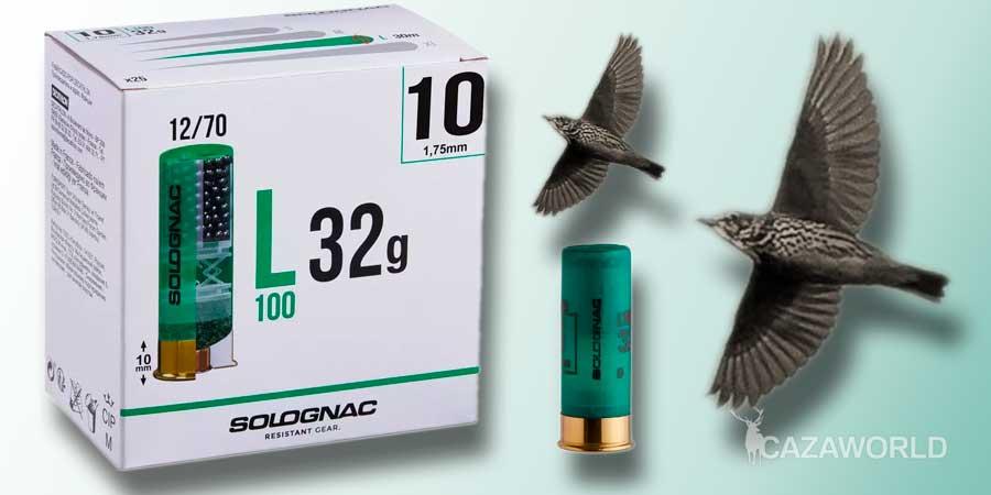 Cartucho Solognac calibre 12 con plomo del 10