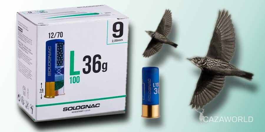 Cartucho Solognac calibre 12 de 36 gramos