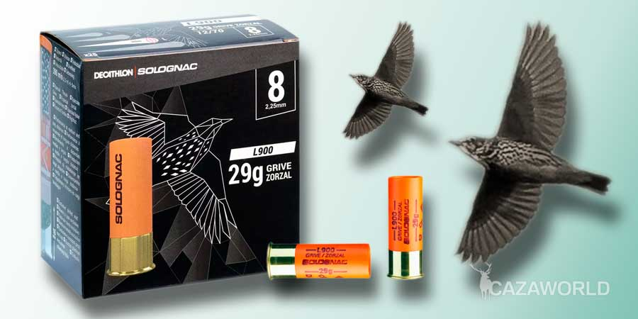 Cartucho Solognac calibre 12 especial zorzales