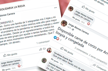 Mensajes de Facebook de Carne Solidaria de La Rioja