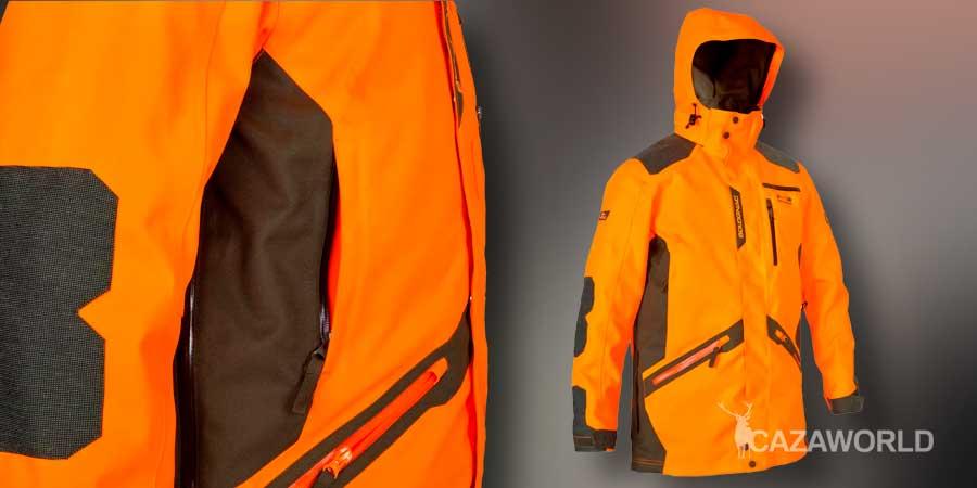 Chaqueta de caza Solognac Supertrack 900 naranja