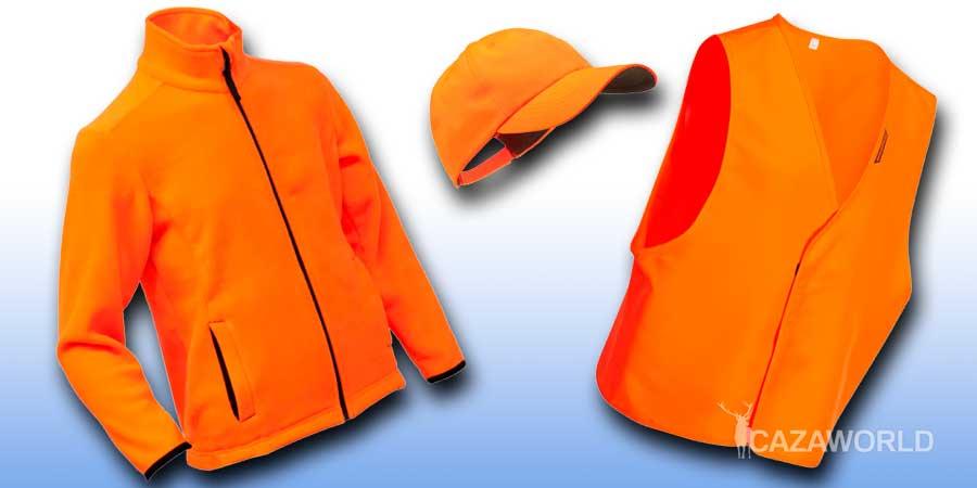 Prendas de caza de alta visibilidad para niños de Solognac