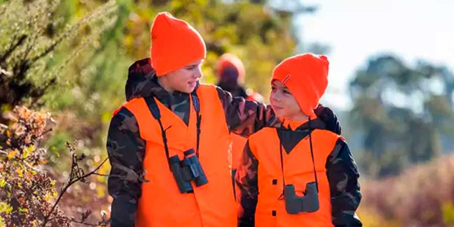 Niños con ropa de caza Solognac