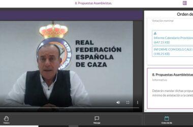 Imagen de la Asamblea General de la Real Federación Española de Caza
