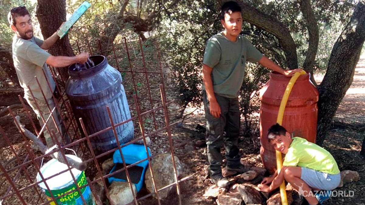 Bebederos en la Sociedad de Cazadores de Villanueva de Algaidas
