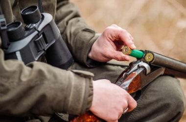 Cazador con escopeta