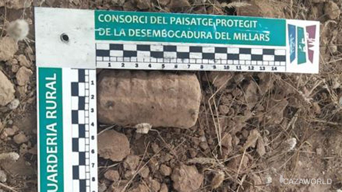 Granada de la Guerra Civil encontrada en la Desembocadura del Mijares